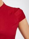 Рубашка с коротким рукавом из хлопка oodji #SECTION_NAME# (красный), 11403196-1/18193/4500N - вид 5