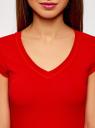 Футболка базовая oodji для женщины (красный), 14711002B/46157/4500N