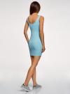 Платье-майка трикотажное облегающее oodji #SECTION_NAME# (синий), 14001210/48152/7000N - вид 3