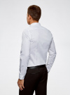 Рубашка приталенная с воротником-стойкой oodji для мужчины (белый), 3L140115M/34146N/1000N - вид 3