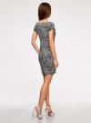 Платье трикотажное принтованное oodji #SECTION_NAME# (черный), 14001117-7/16564/2912O - вид 3