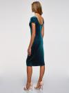 Платье миди с вырезом на спине oodji #SECTION_NAME# (зеленый), 24001104-8B/48621/6C00N - вид 3