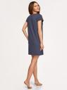 Платье домашнее с принтом oodji #SECTION_NAME# (синий), 59801006-21/46154/7412P - вид 3