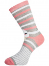 Комплект высоких носков (3 пары) oodji для женщины (разноцветный), 57102902T3/47469/20 - вид 4