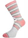 Комплект высоких носков (3 пары) oodji #SECTION_NAME# (разноцветный), 57102902T3/47469/20 - вид 4