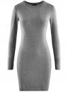 Платье вязаное базовое oodji #SECTION_NAME# (серый), 73912217-2B/33506/2300M