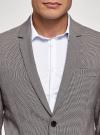 Пиджак однобортный на пуговицах oodji #SECTION_NAME# (серый), 2L420281M/49802N/2512C - вид 4