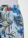 Шорты принтованные из хлопка oodji для женщины (синий), 17000025/48434/7019F