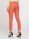 Брюки льняные прямые oodji для женщины (оранжевый), 21701092/16009/5900N