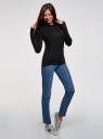 Джемпер с длинным рукавом и круглым вырезом oodji для женщины (черный), 73812659-2B/24514/2900N