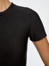Платье трикотажное с коротким рукавом oodji #SECTION_NAME# (черный), 14011007/45262/2900N - вид 5