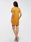 Платье из искусственной замши с завязками oodji #SECTION_NAME# (оранжевый), 18L00001/45778/5200N - вид 3