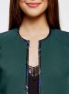 Жакет-болеро с контрастной отделкой oodji #SECTION_NAME# (зеленый), 22A00002/31291/6C00N - вид 4