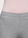 Бриджи трикотажные базовые oodji для женщины (серый), 18700055B/46159/2000M