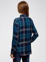 Рубашка в клетку с погонами и нагрудными карманами oodji для женщины (синий), 11411052-1/45917/7973C