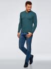 Пуловер базовый с V-образным вырезом oodji #SECTION_NAME# (зеленый), 4B212007M-1/34390N/6901M - вид 6