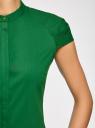 Рубашка с коротким рукавом из хлопка oodji #SECTION_NAME# (зеленый), 11403196-1/18193/6E00N - вид 5