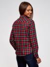 Рубашка клетчатая с нагрудными карманами oodji #SECTION_NAME# (красный), 13L00001-2/48869/4579C - вид 3