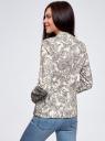 Жакет приталенный базовый oodji для женщины (слоновая кость), 21203064-5B/14522/124AF