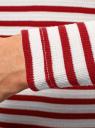 Футболка с длинным рукавом в полоску oodji для женщины (красный), 14211001/45210/1245S
