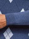 Джемпер жаккардовый с геометрическим узором oodji #SECTION_NAME# (синий), 4L112205M/48960N/7570J - вид 6