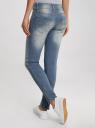 Джинсы skinny с молниями на штанинах oodji #SECTION_NAME# (синий), 12106040/22306/7000W - вид 3