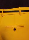 Брюки укороченные с ремнем oodji #SECTION_NAME# (желтый), 21701094/33574/5200N - вид 5