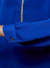 Блузка из струящейся ткани с металлическим украшением oodji #SECTION_NAME# (синий), 21414004/45906/7500N - вид 5