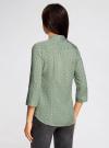 Блузка вискозная с регулировкой длины рукава oodji #SECTION_NAME# (зеленый), 11403225-3B/26346/6610G - вид 3