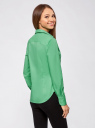 Рубашка базовая из хлопка oodji #SECTION_NAME# (зеленый), 11403227B/14885/6500N - вид 3