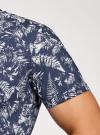 Рубашка принтованная с коротким рукавом oodji #SECTION_NAME# (синий), 3L410128M/48244N/7910F - вид 5