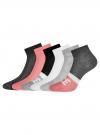 Комплект из шести пар хлопковых носков oodji для женщины (разноцветный), 57102704T6/47469/10 - вид 2