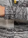 Кардиган полосатый с капюшоном oodji #SECTION_NAME# (серый), 63205244/46133/2512S - вид 5