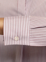 Рубашка свободного силуэта с воротником-стойкой oodji для женщины (розовый), 13K11024/33081/3310S