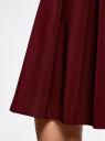 Юбка расклешенная со встречными складками oodji для женщины (красный), 11600396-1B/42250/4900N