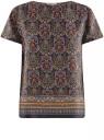 Блузка вискозная свободного силуэта oodji #SECTION_NAME# (черный), 21411119M/26346/2945E
