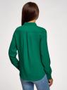 Блузка базовая из вискозы oodji #SECTION_NAME# (зеленый), 11411136B/26346/6E01N - вид 3