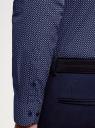 Рубашка базовая приталенная oodji #SECTION_NAME# (синий), 3B110019M/44425N/7810G - вид 5
