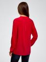 Блузка принтованная из вискозы oodji #SECTION_NAME# (красный), 11411049-1/24681/4500N - вид 3