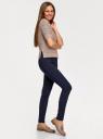 Джемпер вязаный с коротким рукавом oodji для женщины (коричневый), 63803084/50579/3512X