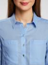 Рубашка хлопковая свободного силуэта oodji #SECTION_NAME# (синий), 11411101B/45561/7001N - вид 4