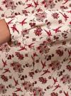 Блузка из вискозы с воротником-стойкой oodji #SECTION_NAME# (бежевый), 21411063-3B/48458/3345F - вид 5