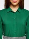 Блузка базовая из вискозы oodji #SECTION_NAME# (зеленый), 11411136B/26346/6E00N - вид 4