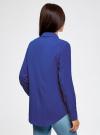 Блузка прямого силуэта с нагрудным карманом oodji #SECTION_NAME# (синий), 11411134B/46123/7501N - вид 3