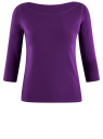 Футболка с рукавом 3/4 oodji для женщины (фиолетовый), 24201010B/46147/8800N