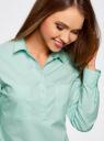 Рубашка базовая с нагрудными карманами oodji #SECTION_NAME# (бирюзовый), 11403222B/42468/7301N - вид 4
