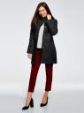 Пальто прямого силуэта из фактурной ткани oodji #SECTION_NAME# (черный), 10104043/43312/2900N - вид 6
