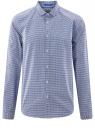 Рубашка хлопковая в мелкую графику oodji #SECTION_NAME# (синий), 3L110309M/44425N/1079G
