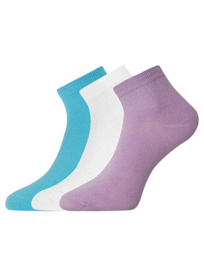 Комплект из трех пар укороченных носков oodji для женщины (разноцветный), 57102418T3/47469/19CWN