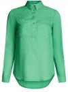 Рубашка хлопковая свободного силуэта oodji #SECTION_NAME# (зеленый), 11411101B/45561/6500N